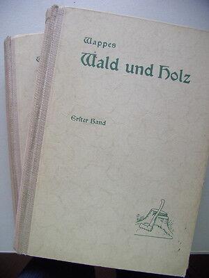 2 Bände Wald und Holz 1931 Nachschlagewerk Forstwirte Holzhändler Holzindustriel