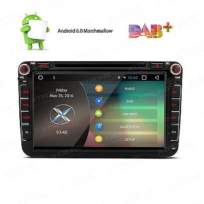 """8"""" AUTORADIO ANDROID 6.0 FÜR VW VOLKSWAGEN SEAT SKODA GPS NAVIGATION NAVI 2DIN"""