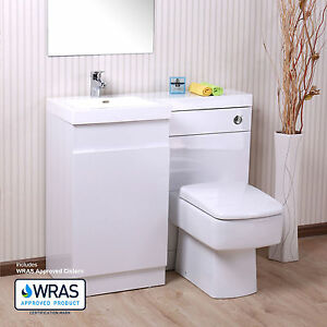 White l shape bathroom white basin vanity unit wc toilet for L shaped bathroom vanity for sale