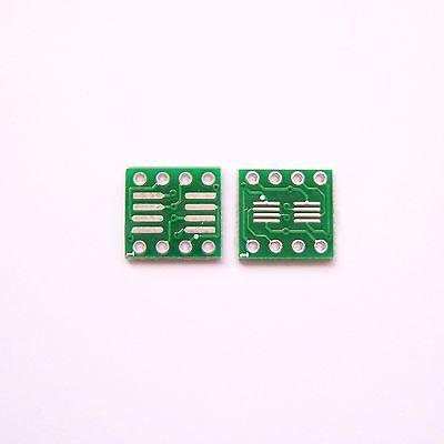 20 Pcs Sop So Soic Ssop Tssop 8 Pin To Dip8 Pcb Board Converter Adapter Diy B01