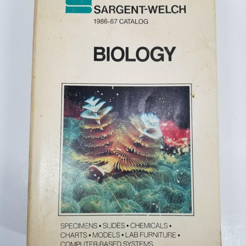 1986 Sargent-Welch Biology Scientific Catalog Laboratory Specimens Supplies Vtg