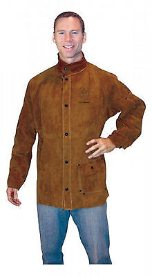 Tillman 3830 Large Dark Brown Leather Welding Jacket 3830l