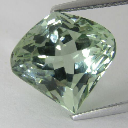 "9.42Cts Natural Green Amethyst (prasiolite)Fancy Shape Loose Gemstone ""Ref VIDEO"