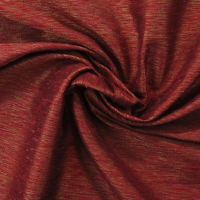 P KAUFMANN SITARA LAVA RED GOLD SHIMMER FAUX SILK WOVEN FABRIC BY YARD 54