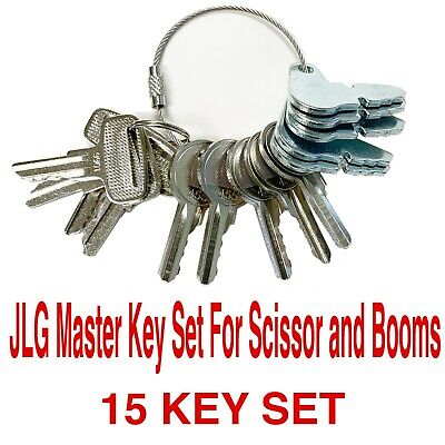 Jlg Heavy Equipment Construction Master Ignition Key Set Scissor Booms 15 Keys