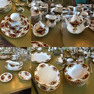 "ROYAL DOULTON ""country roses"" over 80 pieces! $650"