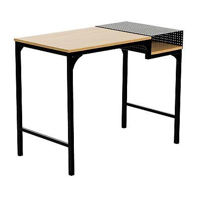 Wooden Computer Desk Laptop PC Home Office Student Study Table with Letter Rack