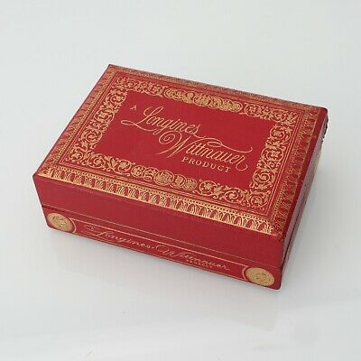 WITTNAUER LONGINES Vintage Red Watch Box For Women's Sized Watch Pre-Owned