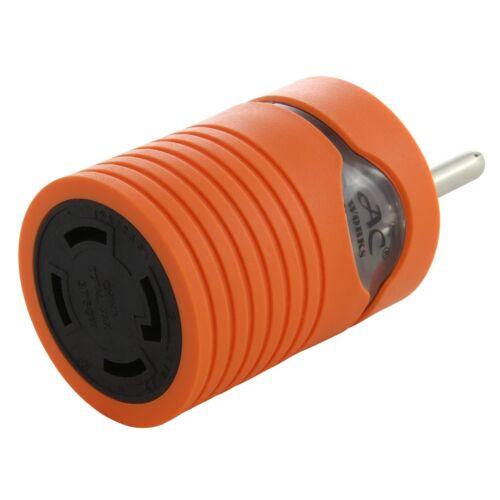 30 Amp RV/Generator Adapter NEMA TT-30P to NEMA L14-30R by AC WORKS®