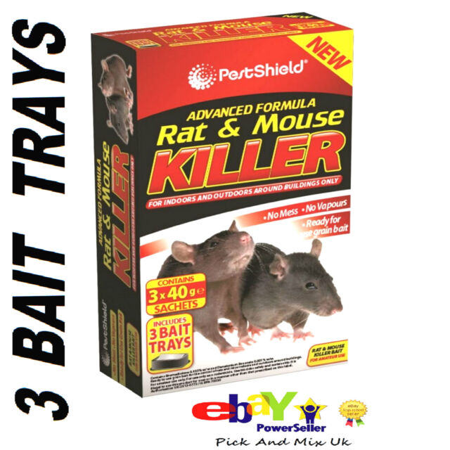 Why Buy MICE RAT Glue Trap When You Can Buy Mouse & Rat Killer Bait 3 x 40g