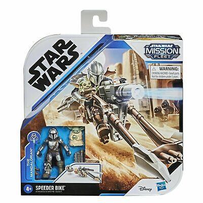 """Star Wars Mission Fleet The Mandalorian 2.5"""" Action Figure with Speeder Bike"""