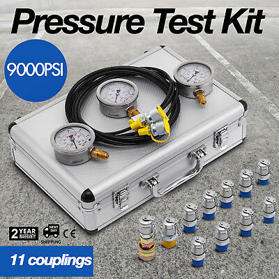 9000psi Excavator Hydraulic Pressure Test Kit Hydraulic Tester 11 Couplings