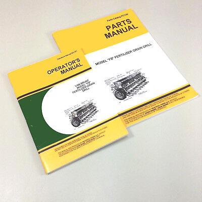 Operators Parts Manuals For John Deere Van Brunt Fb 168 16x8 Grain Drill Owners