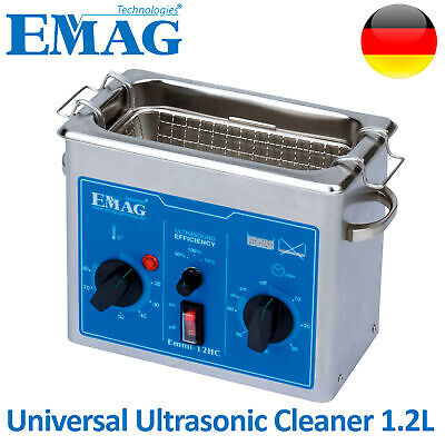 Emag Ultrasonic Cleaner Solution Bath Clean Parts Instrument Jewelry Dental 1.2l