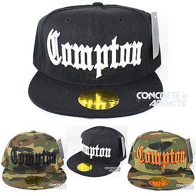 Schwarz Compton Vintage Würfel Flache Baseballmütze Snap Kappe - Würfel Hut