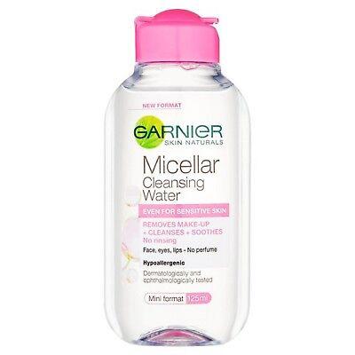 Garnier Skin Active Micellar Cleansing Water 125ml Makeup Remover Sensitive Skin