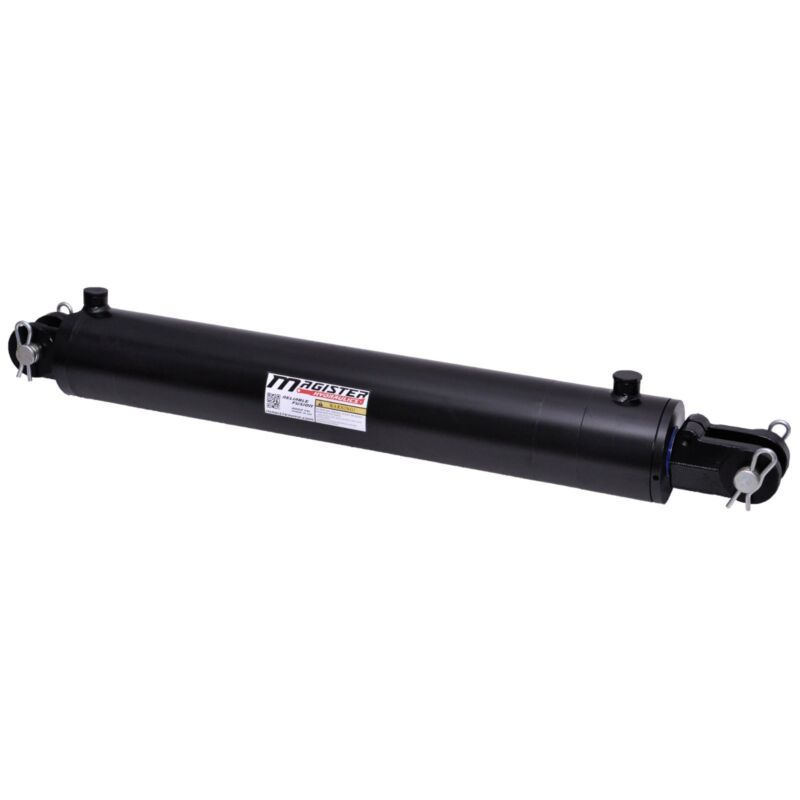 """Hydraulic Cylinder Welded Double Acting 3.5"""" Bore 24"""" Stroke Clevis 3.5x24 NEW"""