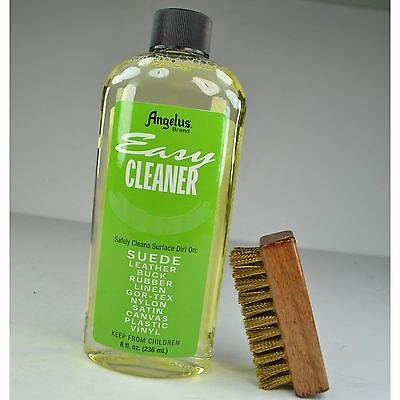 Angelus Easy Cleaner Suede Cleaning Kit Shoe Cleaning kit 8oz With Brush NEW