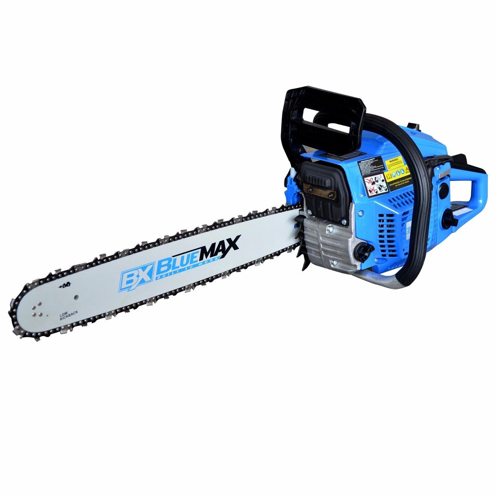Blue Max 18 U0026quot  Heavy Duty Gas Chain Saw Professional Chain