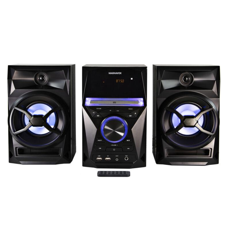 Magnavox MM441 CD Shelf Sys. w/ FM Radio, Bluetooth, Blue Speaker Light & Remote