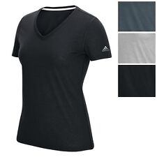 adidas Women's Ultimate V Tee Athletic Loose Fit V-Neck T-Shirt All Col. & Sizes