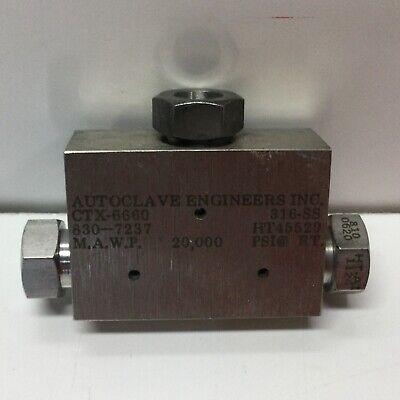 Autoclave Engineers Ctx6660 Pressure Tee Fitting 20000 Psi 38