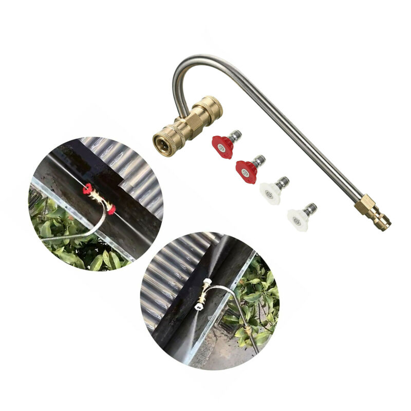 Tool Curved Pressure Washer Gutter Cleaning Accessory for Car Lawn 4000 PSI