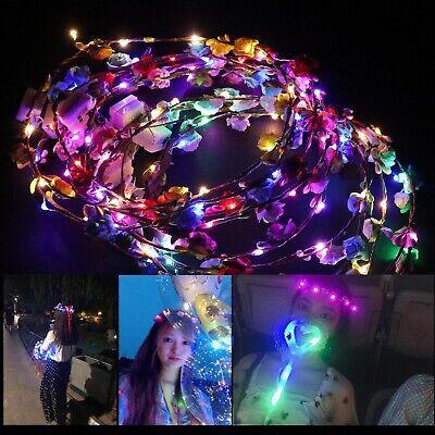 10x LED Stirnbänder mit Zufälliger Farbe Kinder Erwachsene - Halloween Stirnbänder