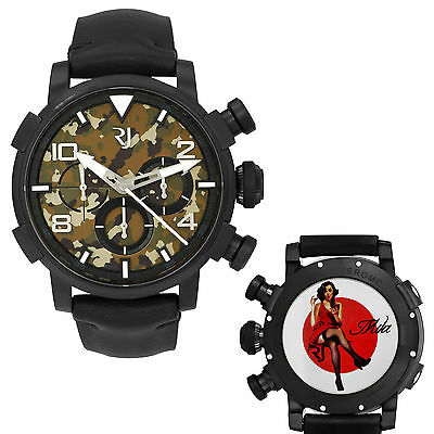 Romain Jerome Pinup DNA WWII Mila Red Dress Chrono Auto Men Watch RJ.P.CH.002.01