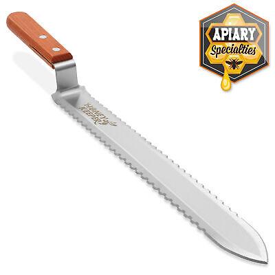 Stainless Steel Serrated Uncapping Knife Honey Scraper Bee Hive Beekeeping Tool