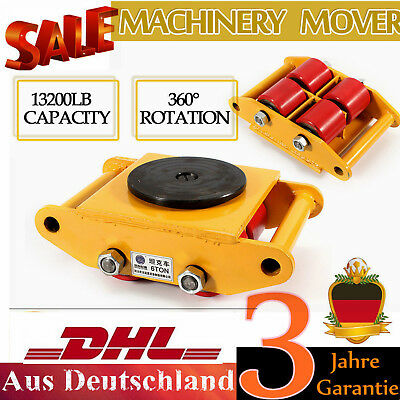 Heavy Duty Machine Dolly Skate Roller Machinery Mover 6t 13200lbs Rotation Cap