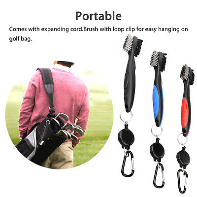 Golf Club Cleaning Brush 3 Pack Retractable Shoe Cleaner Tool Value Color Set US