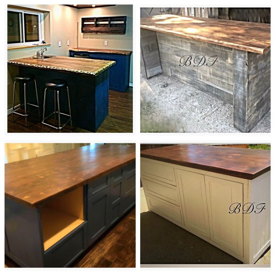 diy along edge countertops pin wood reclaimed adding trim boards countertop