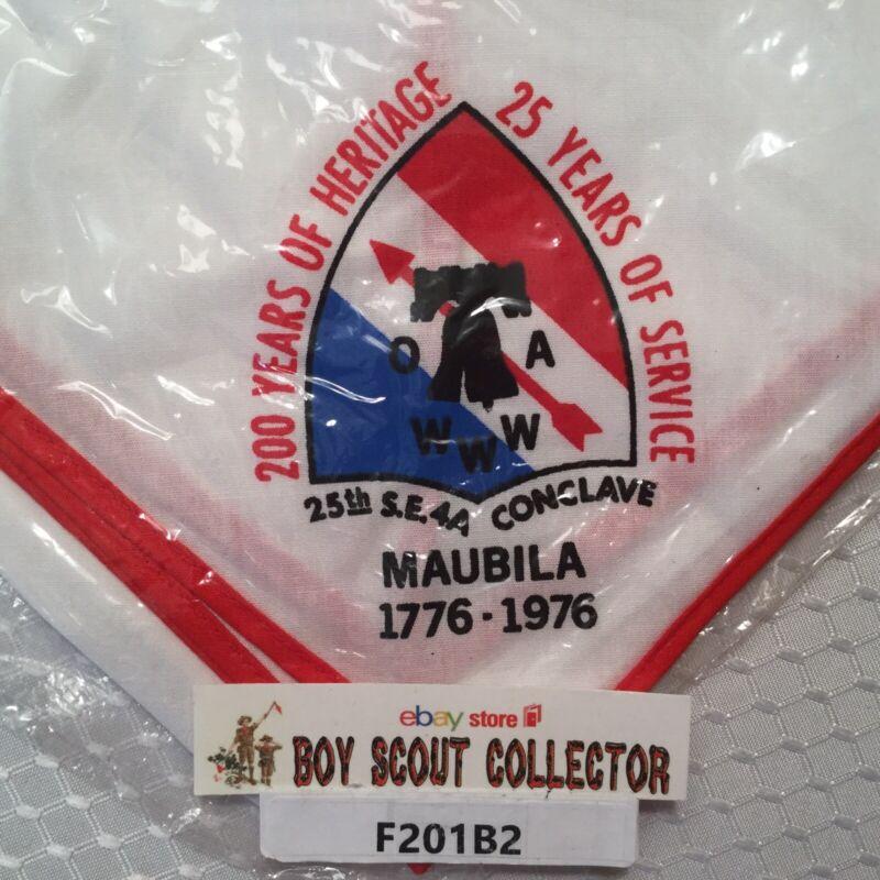 Boy Scout OA 1976 SE 4A Conclave Maubila Order Of The Arrow Neckerchief