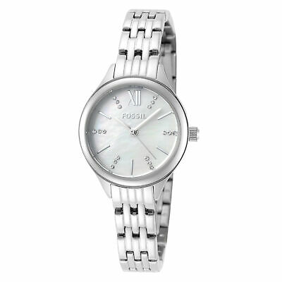 Fossil Women's Suitor BQ3332 26mm White Mother-of-Dial Dial SS Watch