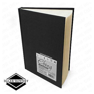 Daler Rowney - Ebony Artist's Hardback Sketch Book - 150gsm - A5 Portrait