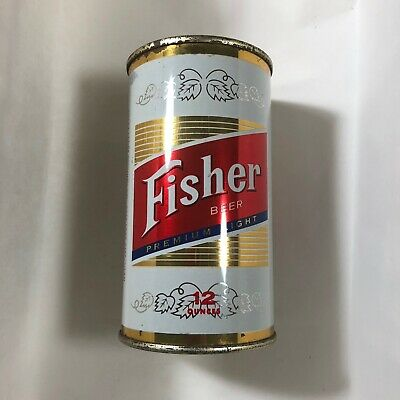 Fisher Beer 12oz flat top can Lucky Lager Brewery  Salt Lake City,UT  USBC# -