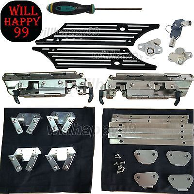 Saddlebags Hard Bag Latch Hardware Set Kit Billet Cover Lock Fit for Harley - Bag Latch