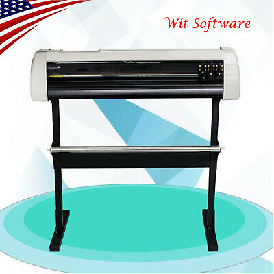 Us 28cutting Plotter Vinyl Cutter Machine Adjustable Width With Lcd Usb Connect