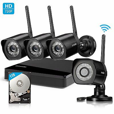 Zmodo 1080p HD NVR System 1.0 Megapixel Security Camera DIY Kit 1TB HDD