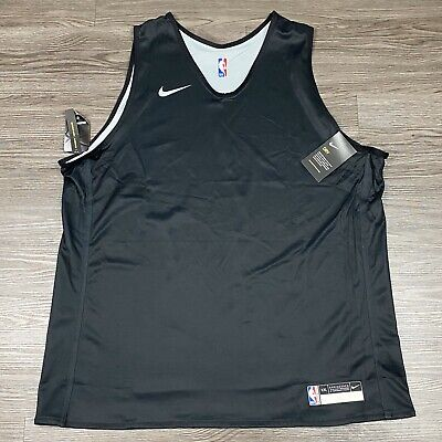 New Nike NBA Player Issue Reversible Practice Jersey Black 2XL 933573 010 Rare