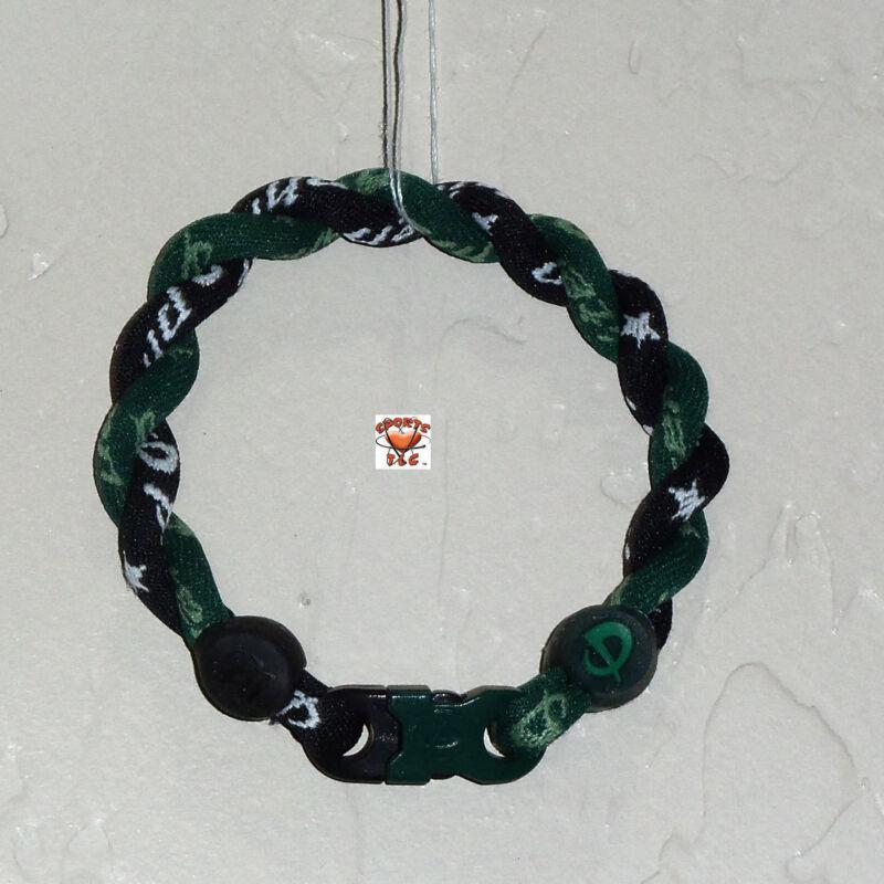 Phiten Tornado Bracelet Custom - Forest Green with Black