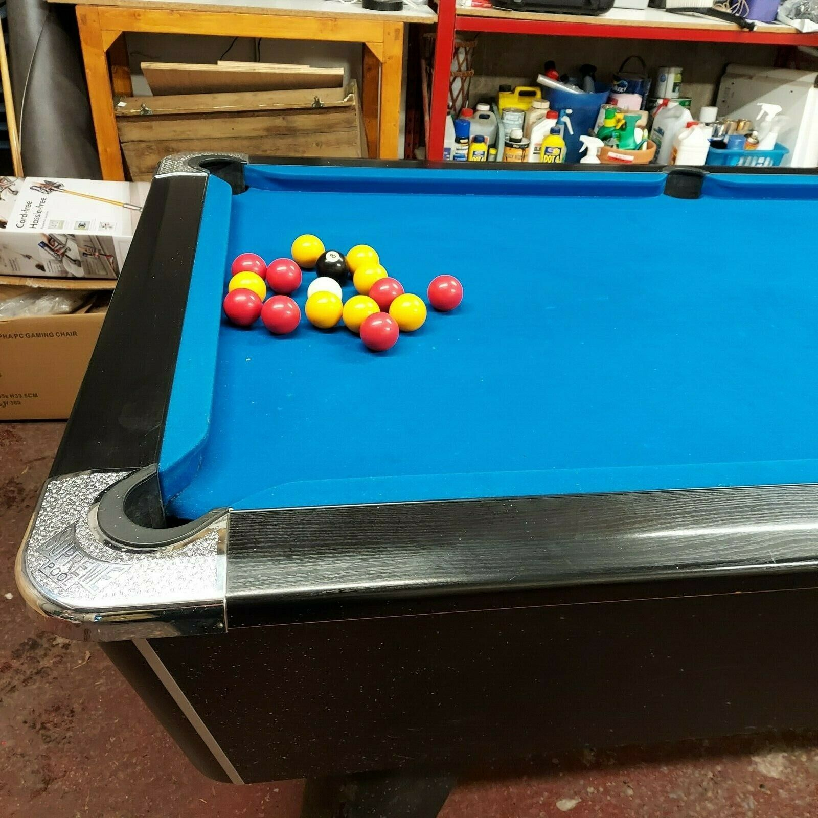 Supreme Winner 7ft pool table complete with balls