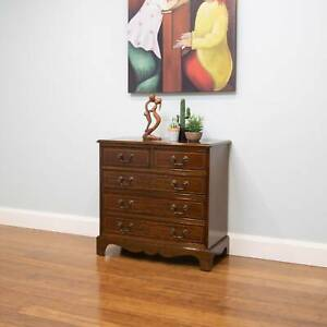 Vintage Georgian Style Petite Chest of Drawers – 5 Drawers