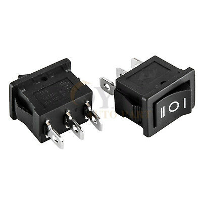 2 Spdt 3-position Rocker Switch 12v Car Ac 6a250v 3-pin On-off-on 12 X 34