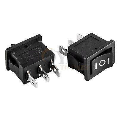 2 Spdt 3-position Rocker Switch 12v Car Ac 6a250v 3-pin On-off-on 12 X 34