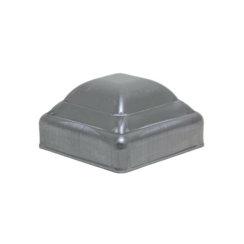 """2"""" Post Cap Pressed Dome Steel Metal Square for Gate Fences   10 Pack"""