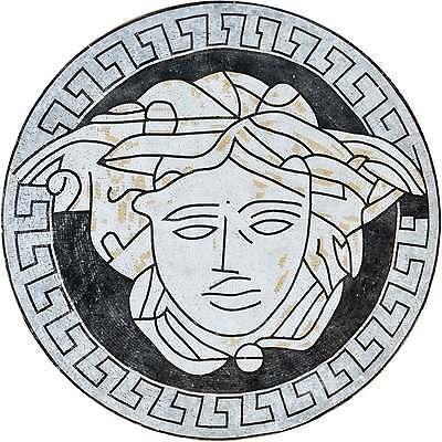 Versace III - Marble Mosaic Medallion Mosaic Backsplash Mosaic Art - Marble Mosaic Art