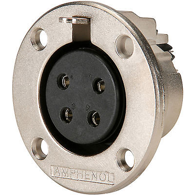Amphenol Ep 4 13P 4 Pole Ep Female Round Flange Chassis Conn