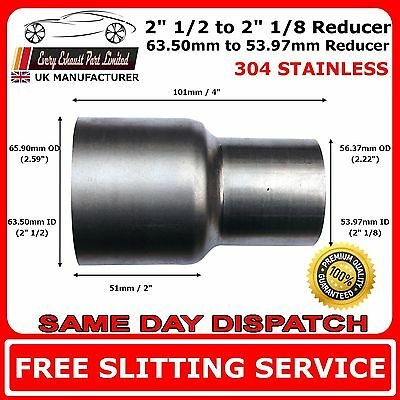 63mm to 54mm Stainless Steel Standard Exhaust Reducer Connector Pipe Tube